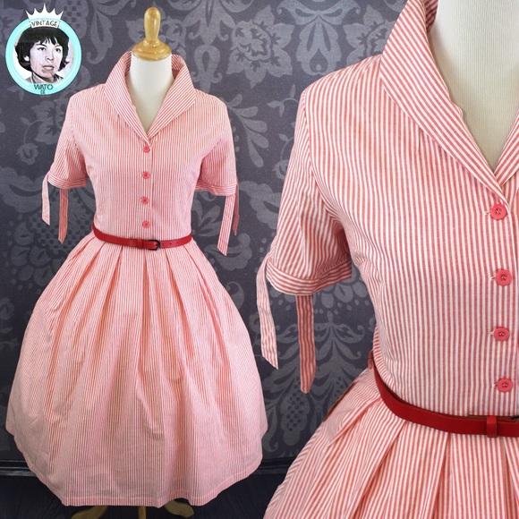066ef6b6210c Lindy Bop Dresses | Nwt 50s Claudine Red Stripe Rockabily Shirt ...